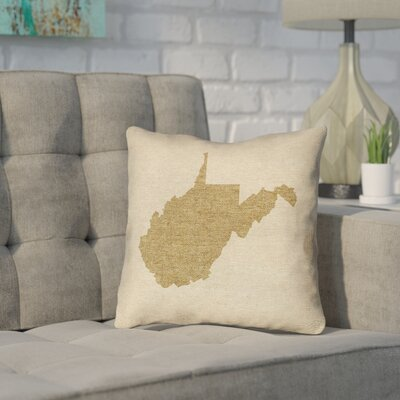 Sherilyn West Virginia Throw Pillow Color: Brown, Size: 26 x 26