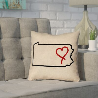 Sherilyn Pennsylvania Love Outline Pillow Double Sided Print Pillow