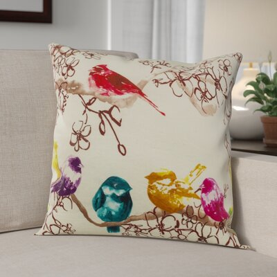 Courtright Nightingale 100% Cotton Throw Pillow