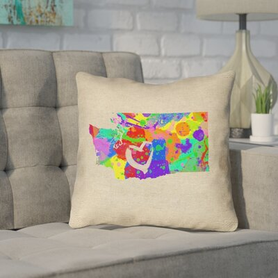 Sherilyn Washington Love Outdoor Throw Pillow Size: 18 x 18