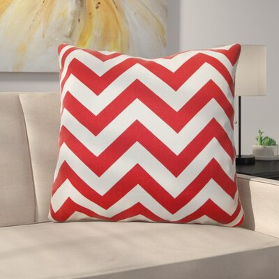 Burd Zigzag Floor Pillow Color: Lipstick White