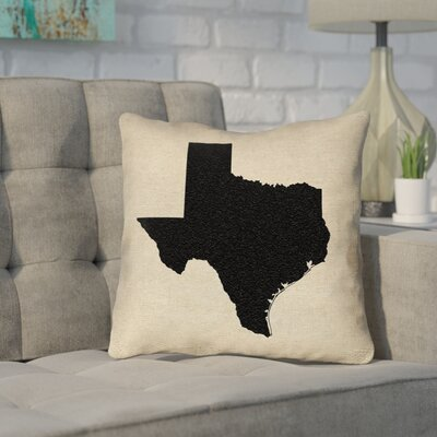 Sherilyn Texas Outdoor Throw Pillow Size: 20 x 20, Color: Black