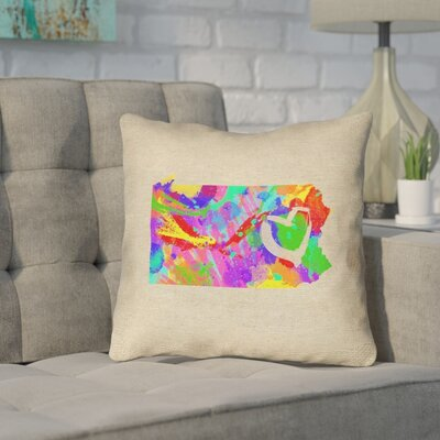 Sherilyn Pennsylvania Love Outdoor Throw Pillow Size: 20 x 20