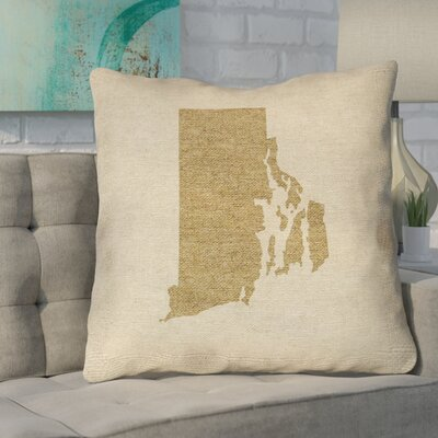 Sherilyn Rhode Island Outdoor Throw Pillow Size: 18 x 18, Color: Brown
