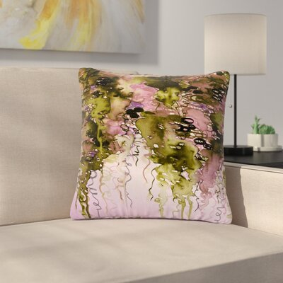 Ebi Emporium Beauty in the Rain Outdoor Throw Pillow Size: 16 H x 16 W x 5 D, Color: Pink
