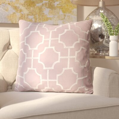 Allbright Embroidered Geo Throw Pillow Color: Nirvana/Silver