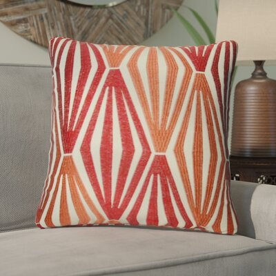 Asaad Diamonds Throw Pillow Color: Orange