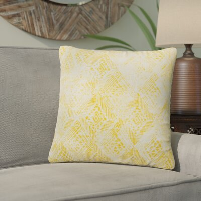 Azucena Outdoor Throw Pillow Color: Yellow, Size: 18 H x 18 W
