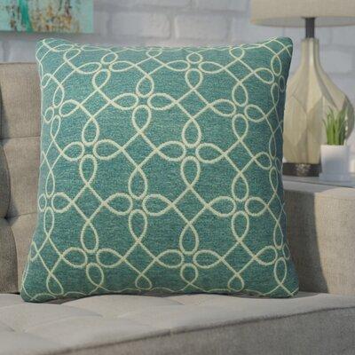 Defino Spirograph Throw Pillow Color: Denim