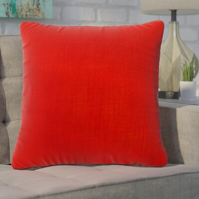 Phoebe Decorative Indoor Throw Pillow Color: Red