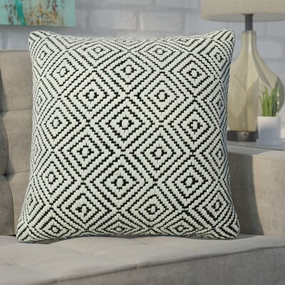 Defino Raised Diamond Throw Pillow Color: Black
