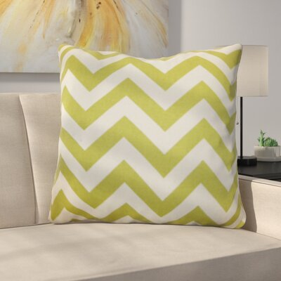 Burd Zigzag Floor Pillow Color: Green/Natural