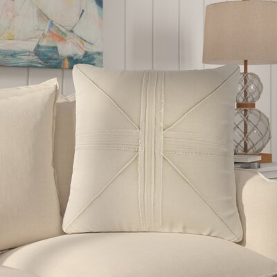 Rafaela Oversized Frayed Linen Throw Pillow Color: Linen