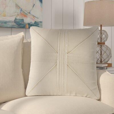 Rafaela Oversized Frayed Linen Throw Pillow Color: Linen