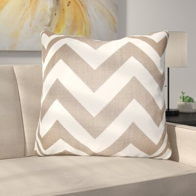 Burd Zigzag Floor Pillow Color: Brown