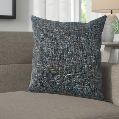 Windham Decorative Cross Stitch Square Throw Pillow Color: Sea Blue