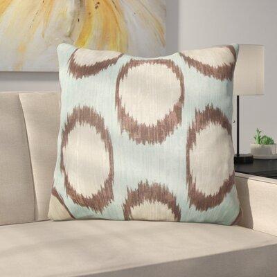 Heaton Ikat Floor Pillow Color: Turquoise