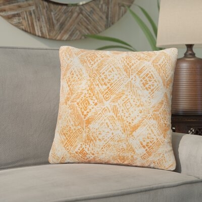 Azucena Outdoor Throw Pillow Color: Orange, Size: 20 H x 20 W