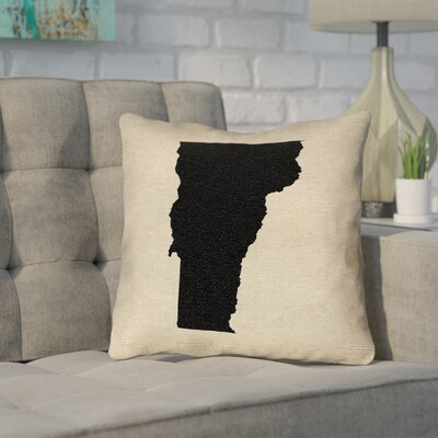 Sherilyn Vermont Throw Pillow Size: 16 x 16, Color: Black