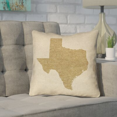 Sherilyn Texas Outdoor Throw Pillow Size: 20 x 20, Color: Brown