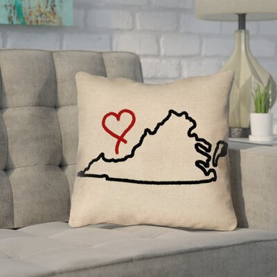 Sherilyn Virginia Love Outdoor Throw Pillow Size: 16 x 16