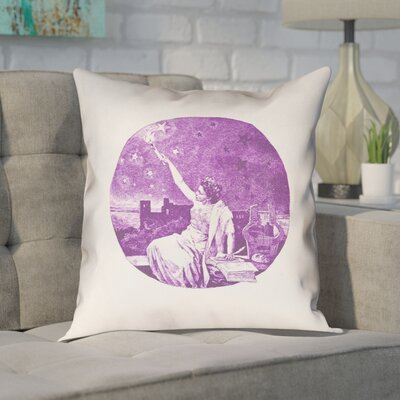 Enciso Red Vintage Goddess Throw Pillow Color: Purple, Size: 16 x 16