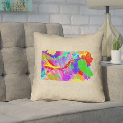 Sherilyn Pennsylvania Throw Pillow Size: 16 x 16, Color: Green/Blue