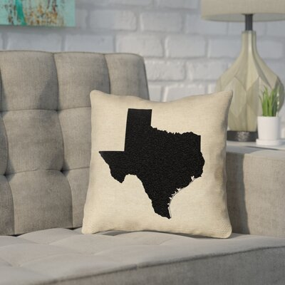 Sherilyn Texas Throw Pillow Size: 14 x 14, Material: Spun Polyester, Color: Black