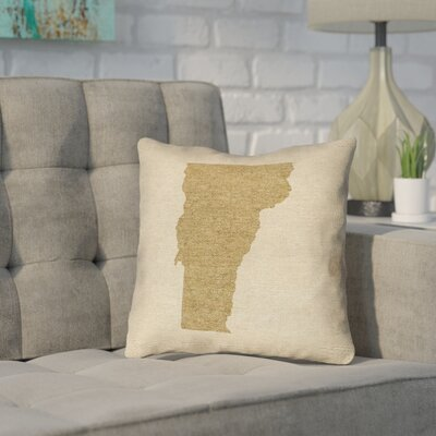 Sherilyn Vermont Throw Pillow Size: 14 x 14, Material: Spun Polyester, Color: Brown