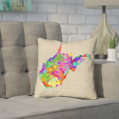 Sherilyn West Virginia Throw Pillow Color: Blue/Green, Size: 14 x 14