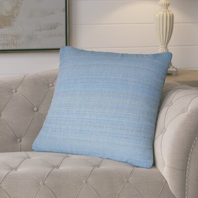 Jayde Woven Stripes Decorative Outdoor Throw Pillow Color: Blue