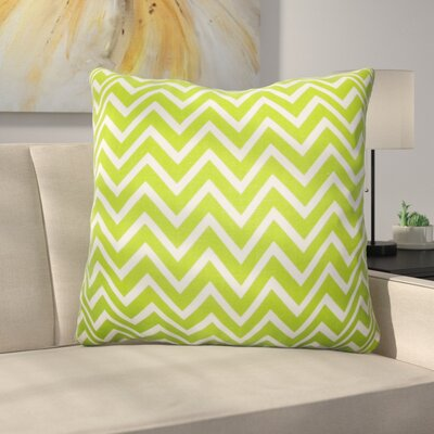 Burd Zigzag Floor Pillow Color: Chartreuse