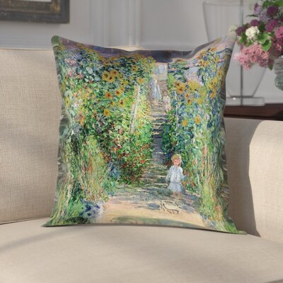 Gere Flower Garden Pillow Cover Size: 18 x 18