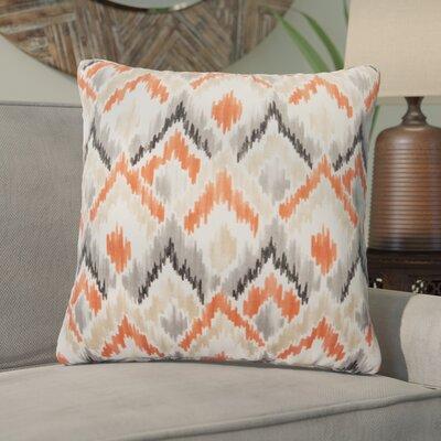 Salina Ikat Outdoor Throw Pillow Color: Orange/Gray