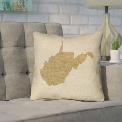 Sherilyn Vermont Throw Pillow Color: Brown, Size: 16 x 16