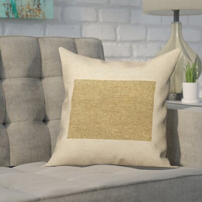 Sherilyn Wyoming Outdoor Throw Pillows Color: Brown, Size: 20 x 20