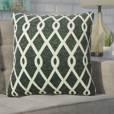Defino Chain Link Throw Pillow Color: Pewter