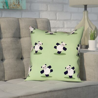 Pecora Panda Outdoor Throw Pillow Size: 16 x 16