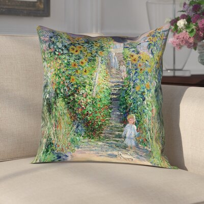 Gerwalt Flower Garden Linen Pillow Cover Size: 14 x 14