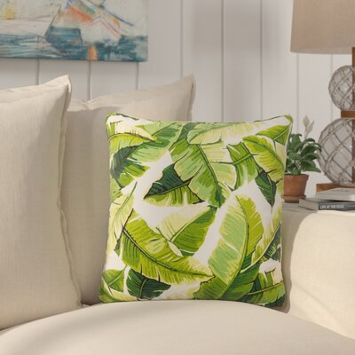 Platanissos Floral Outdoor Throw Pillow Size: 18 H x 18 W