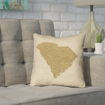 Sherilyn South Carolina Throw Pillow Size: 16 x 16, Material: Spun Polyester, Color: Brown