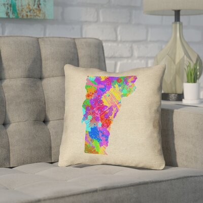 Sherilyn Vermont Throw Pillow Size: 18 x 18, Material: Spun Polyester, Color: Green/Blue