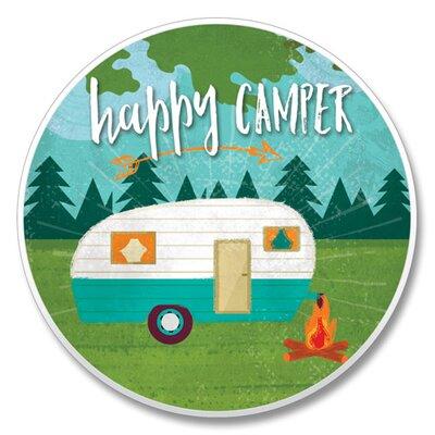 Happy Camper Auto Coaster 8E867AA40F4A4E0BB2FC50C31E0E1DEF