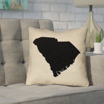 Sherilyn South Carolina Outdoor Throw Pillow Size: 20x 20, Color: Black