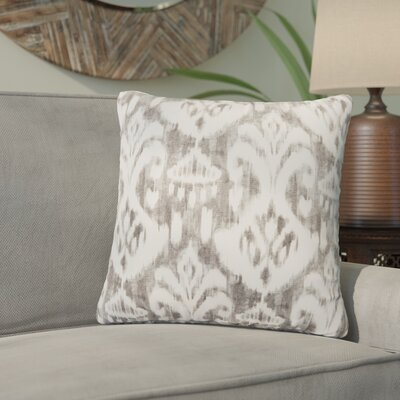 Marisa Ikat Outdoor Throw Pillow Color: Gray, Size: 18 H x 18 W