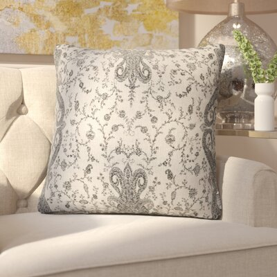 Clairsville Throw Pillow Color: Cream