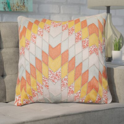 Coleridge 100% Cotton Throw Pillow Color: Orange