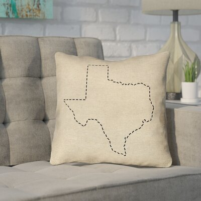 Sherilyn Texas Dash Outdoor Throw Pillow Size: 18 x 18