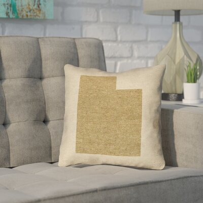 Sherilyn Utah Throw Pillow Size: 16 x 16, Material: Spun Polyester, Color: Brown