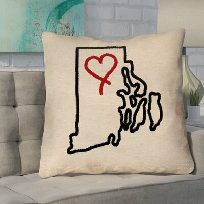 Sherilyn Rhode Island Love Size: 20 x 20, Type: Throw Pillow